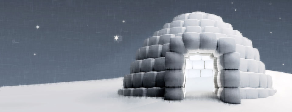 A freezing igloo
